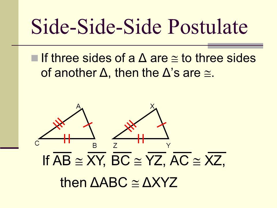 Side-Side-Side Postulate