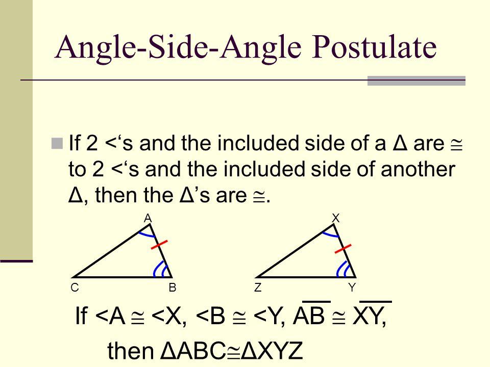 Angle-Side-Angle Postulate