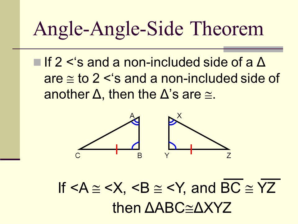 Angle-Angle-Side Theorem