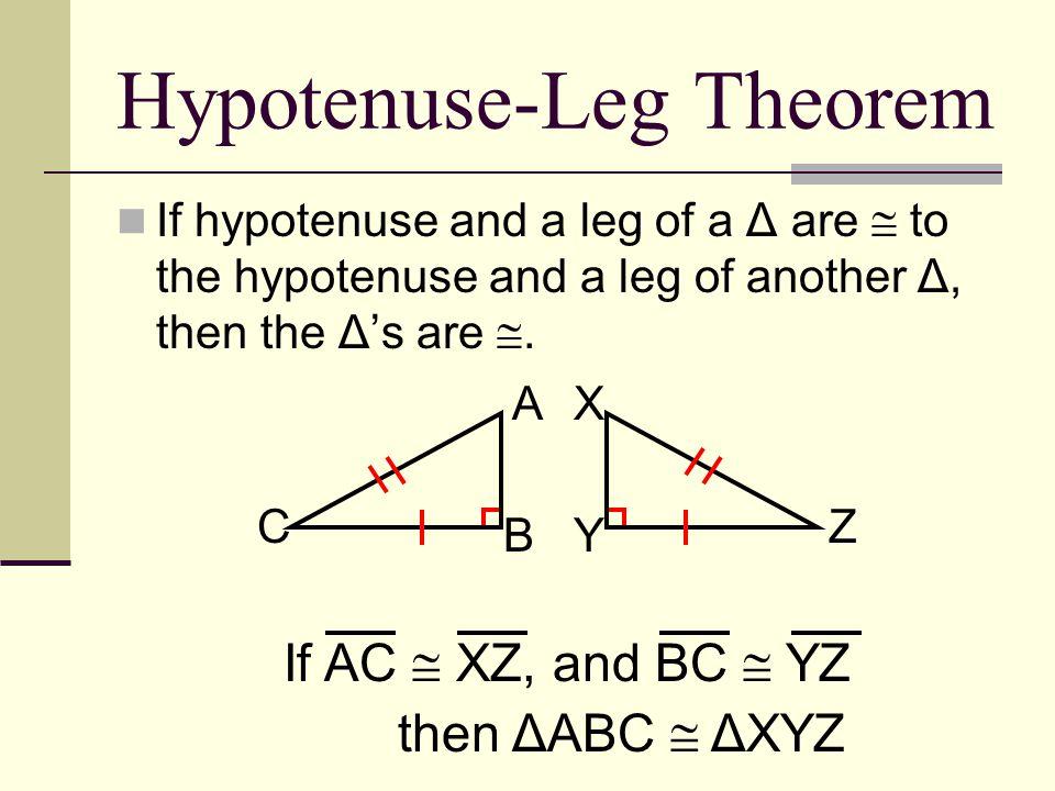 Hypotenuse-Leg Theorem