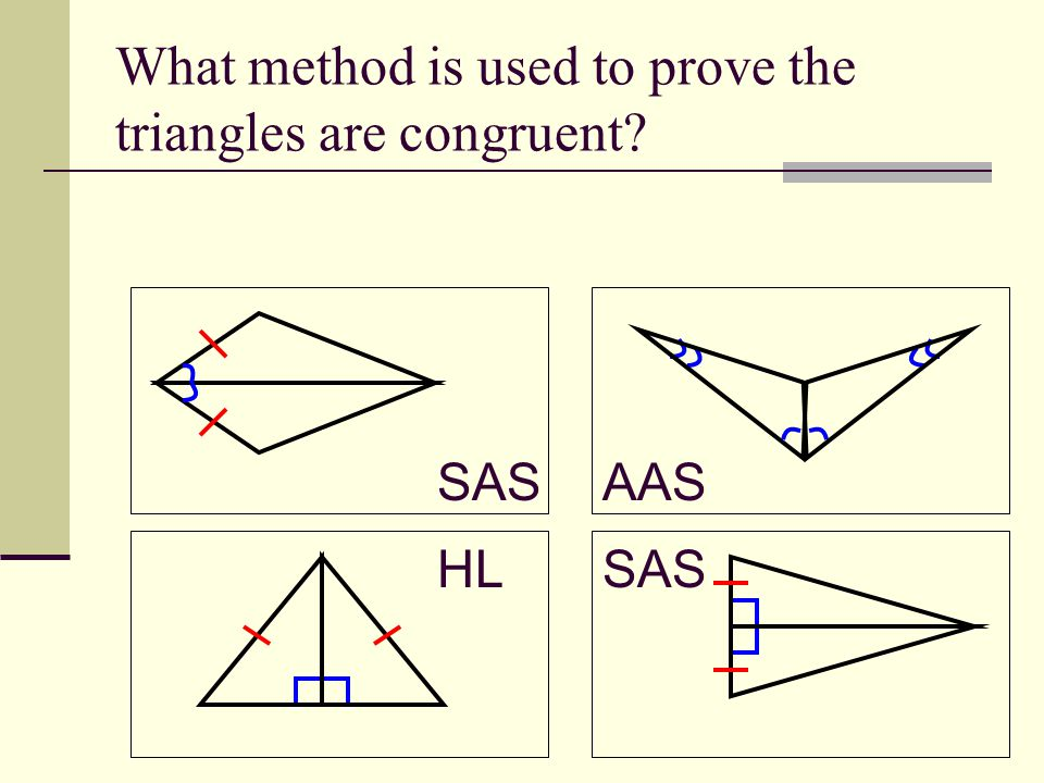 What method is used to prove the triangles are congruent