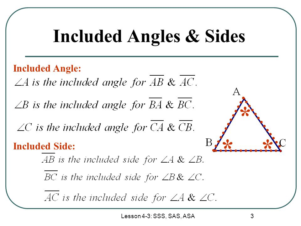 Included Angles & Sides