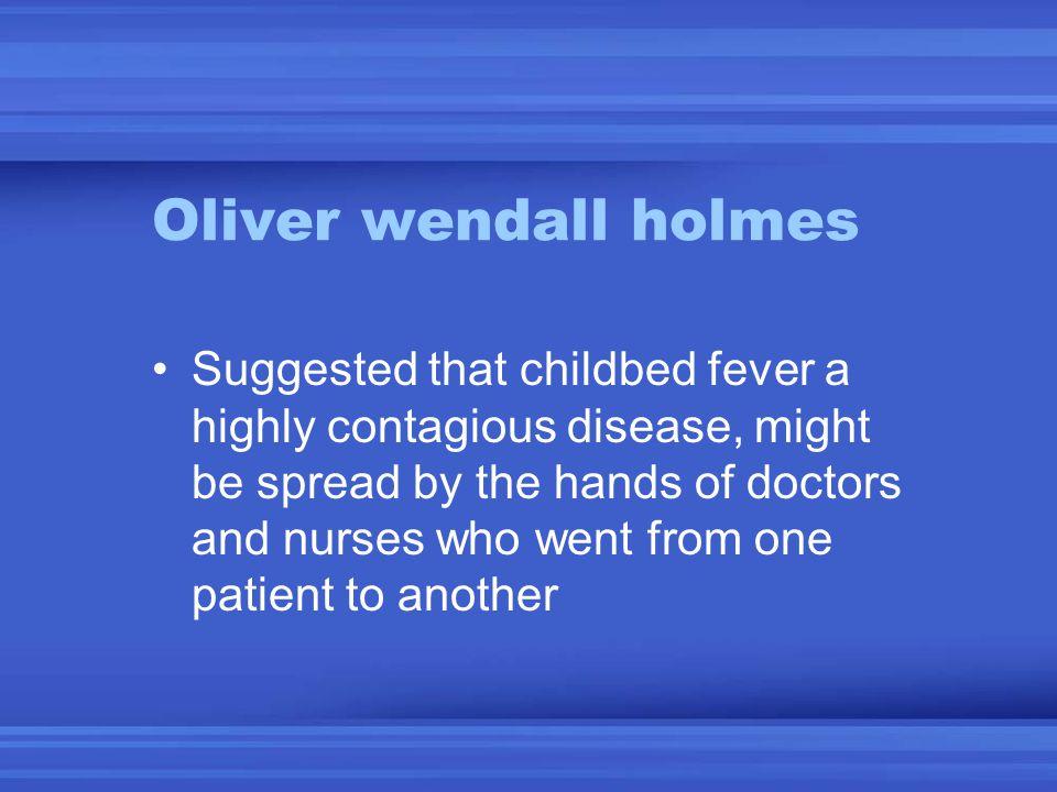 Oliver wendall holmes