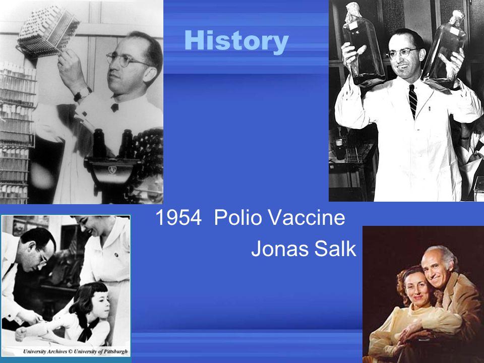 History 1954 Polio Vaccine Jonas Salk