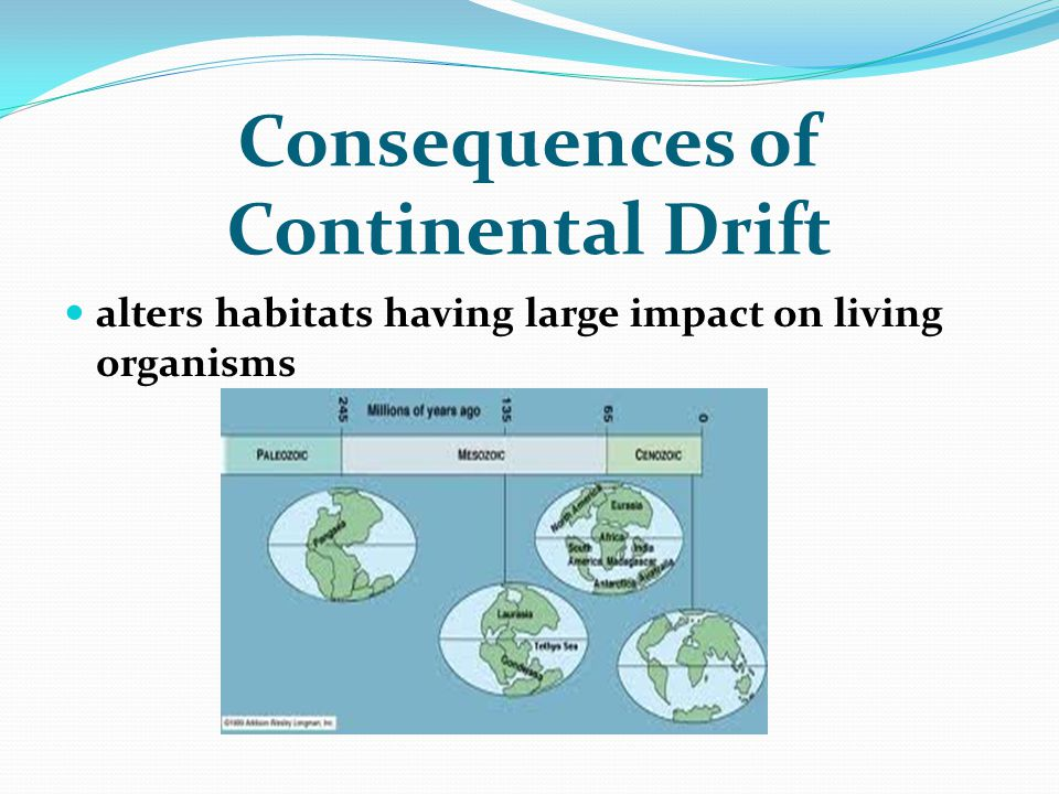 Consequences of Continental Drift