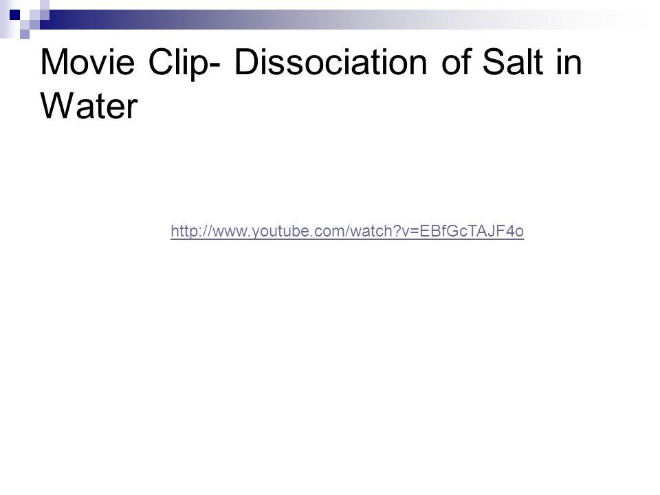 Movie Clip- Dissociation of Salt in Water