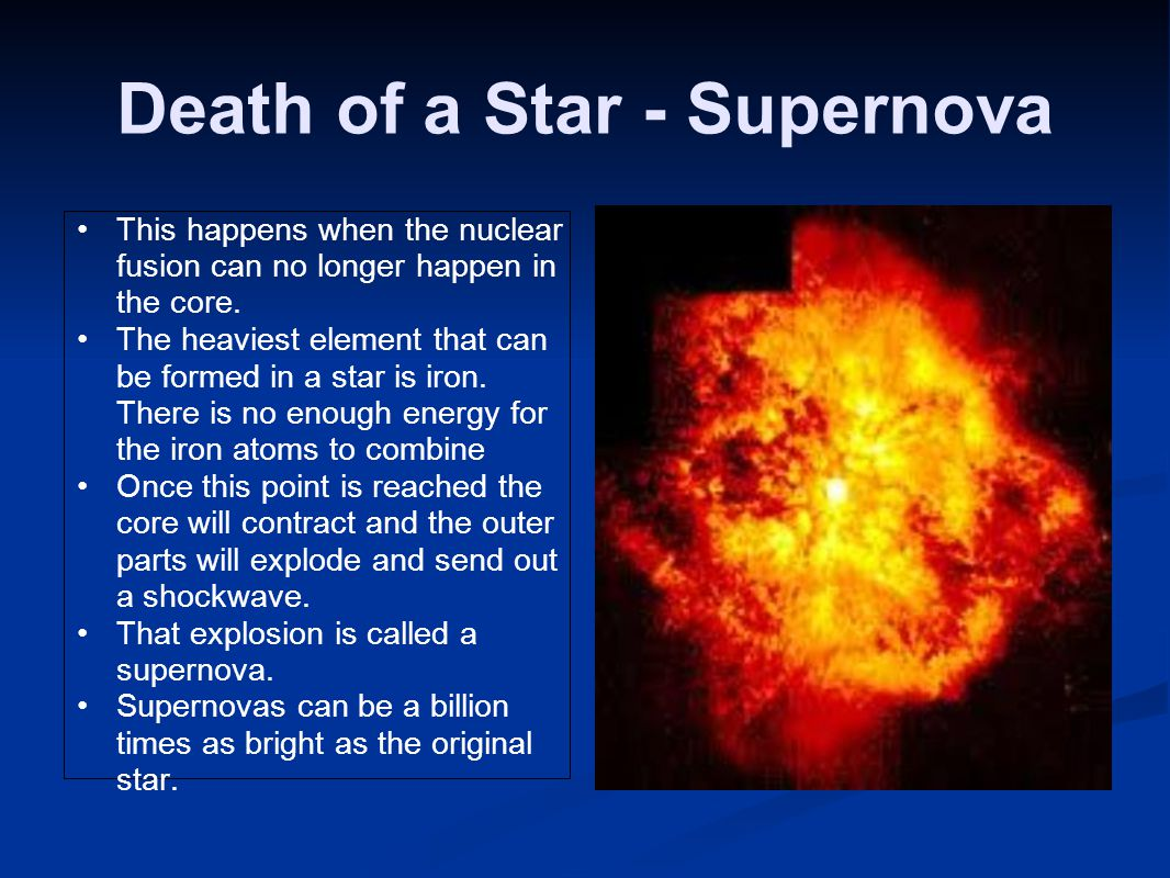 Death of a Star - Supernova