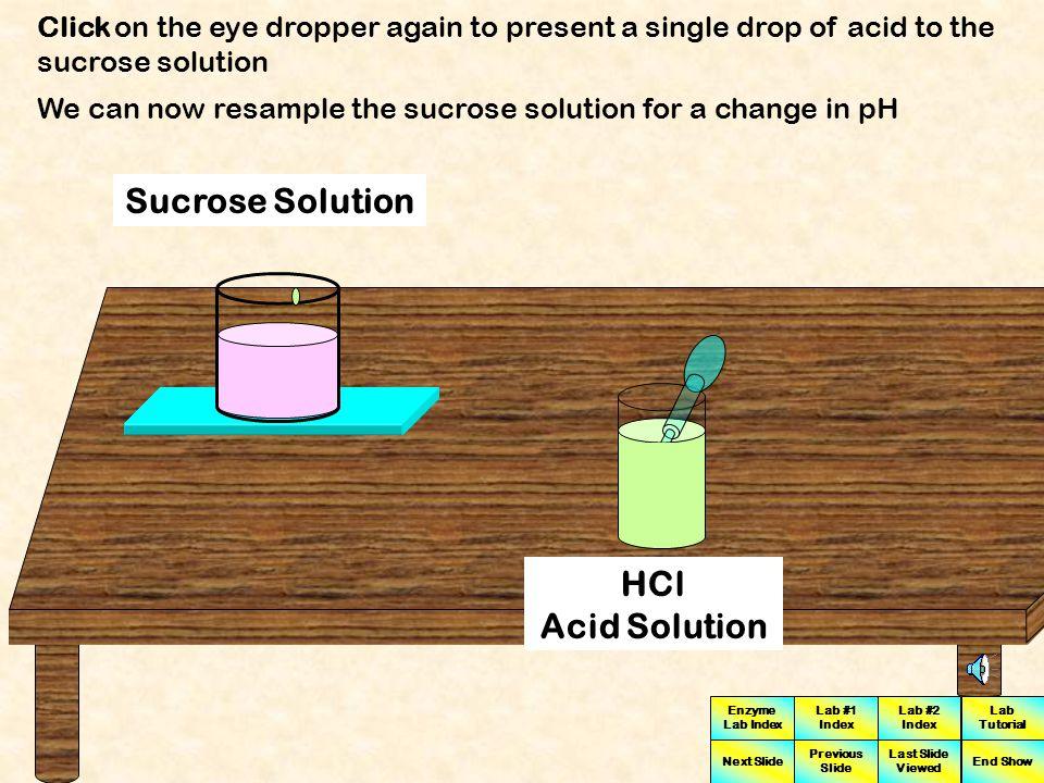 Sucrose Solution HCl Acid Solution