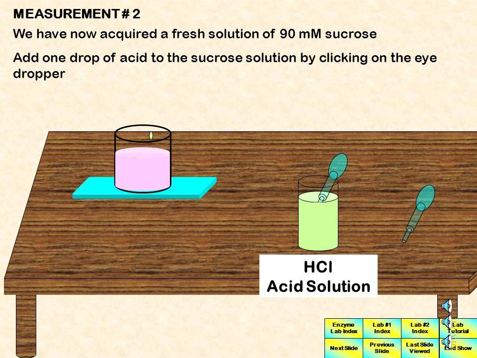 HCl Acid Solution MEASUREMENT # 2