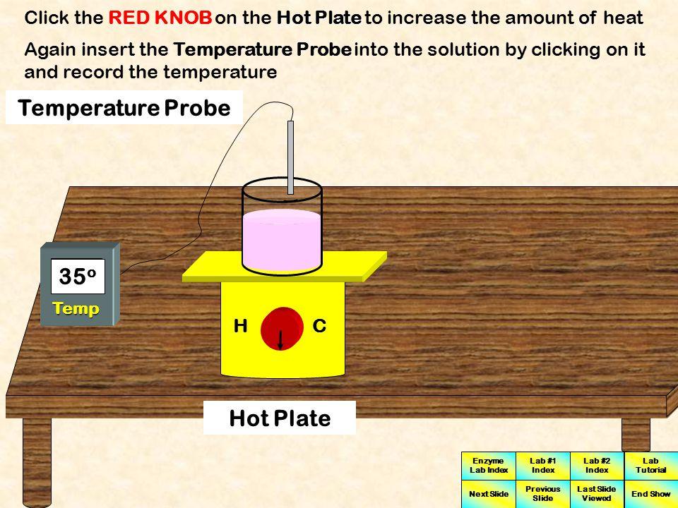 Temperature Probe 30o 35o Hot Plate