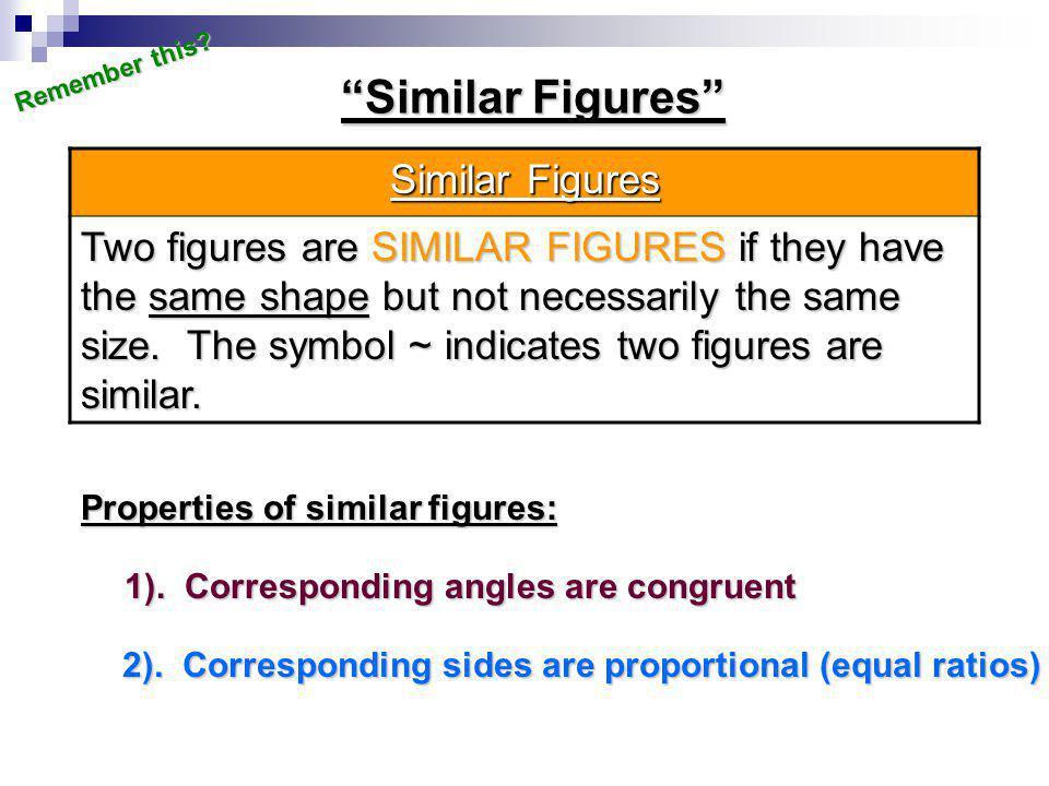 Similar Figures Similar Figures