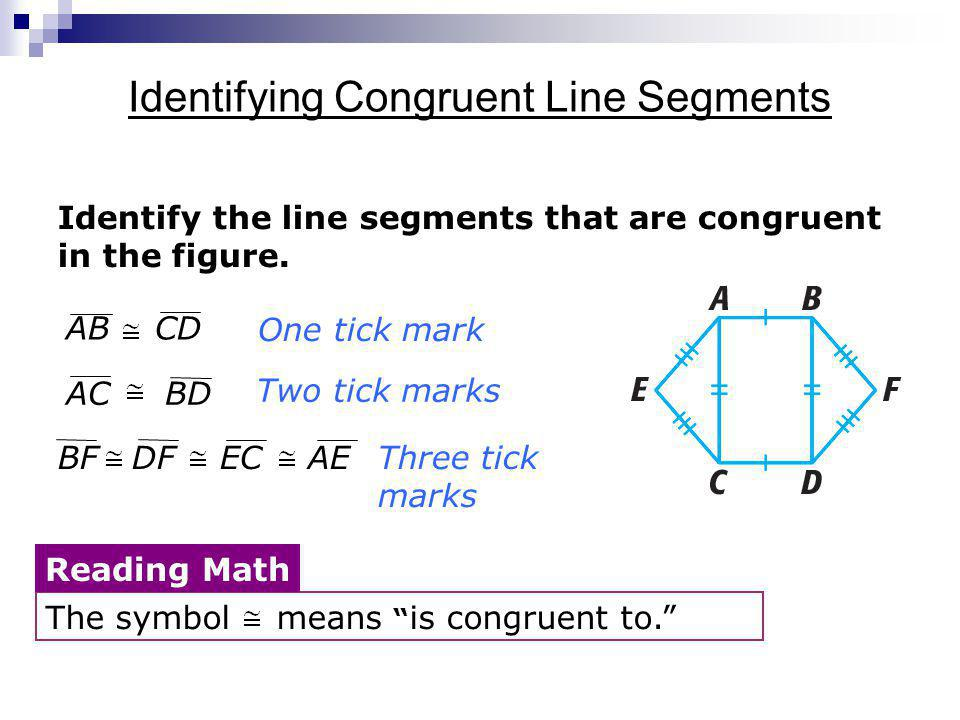 Identifying Congruent Line Segments