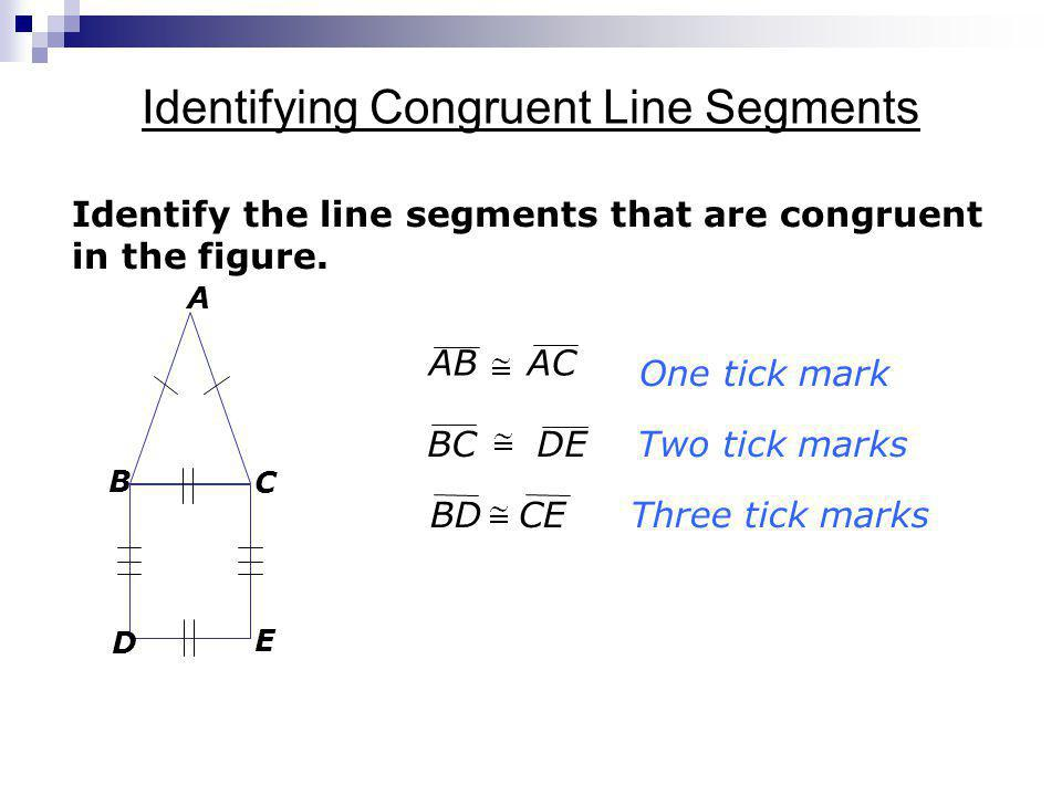 Identifying Congruent Line Segments