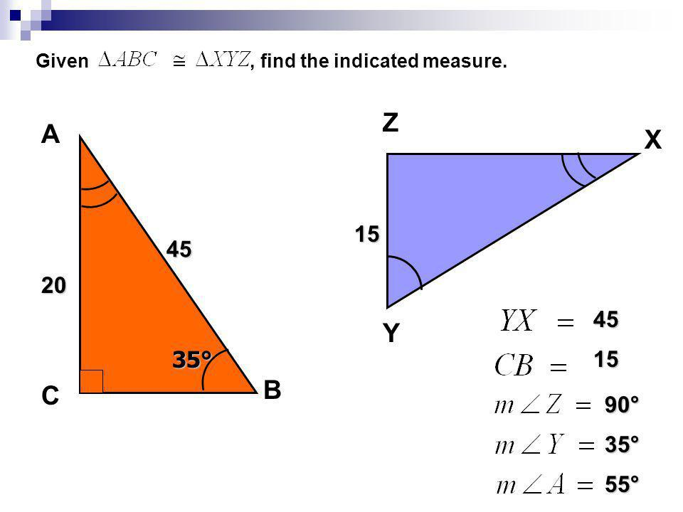 Given , find the indicated measure.