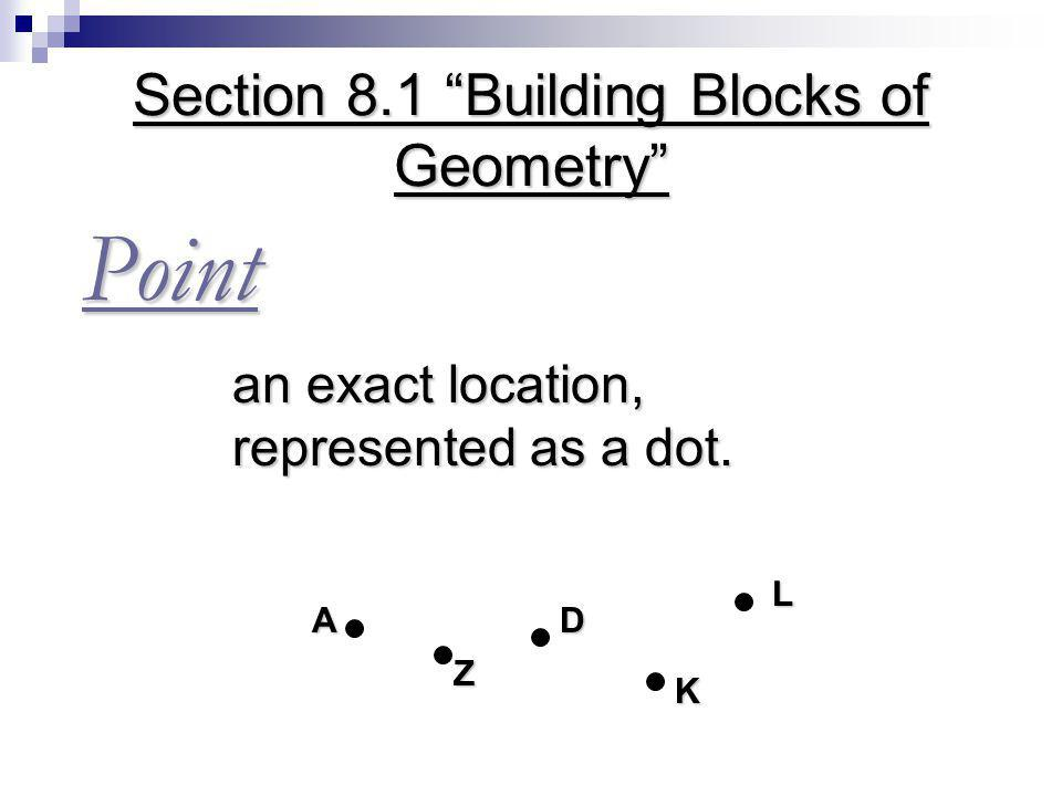 Section 8.1 Building Blocks of Geometry