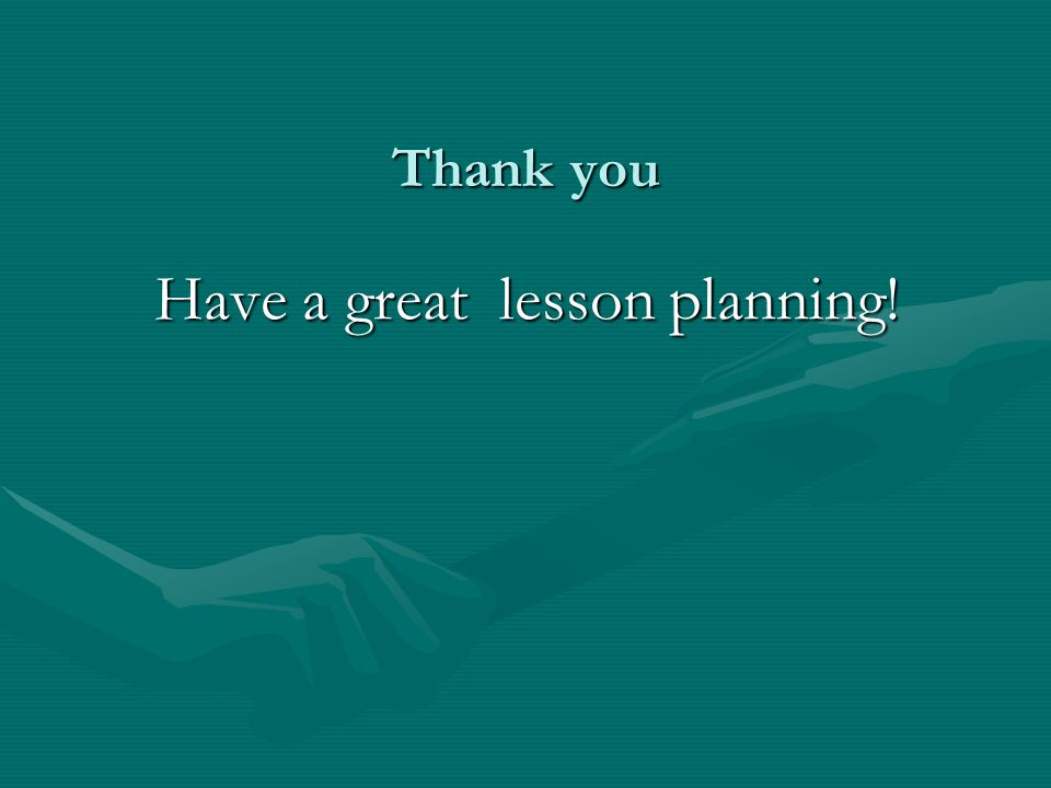 Have a great lesson planning!