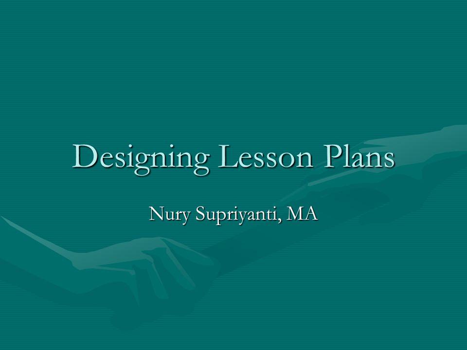 Designing Lesson Plans