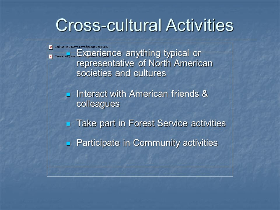 Cross-cultural Activities