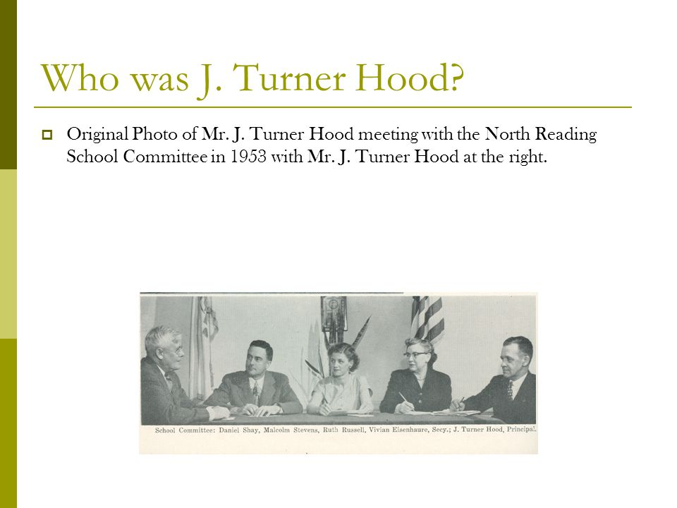 Who was J. Turner Hood