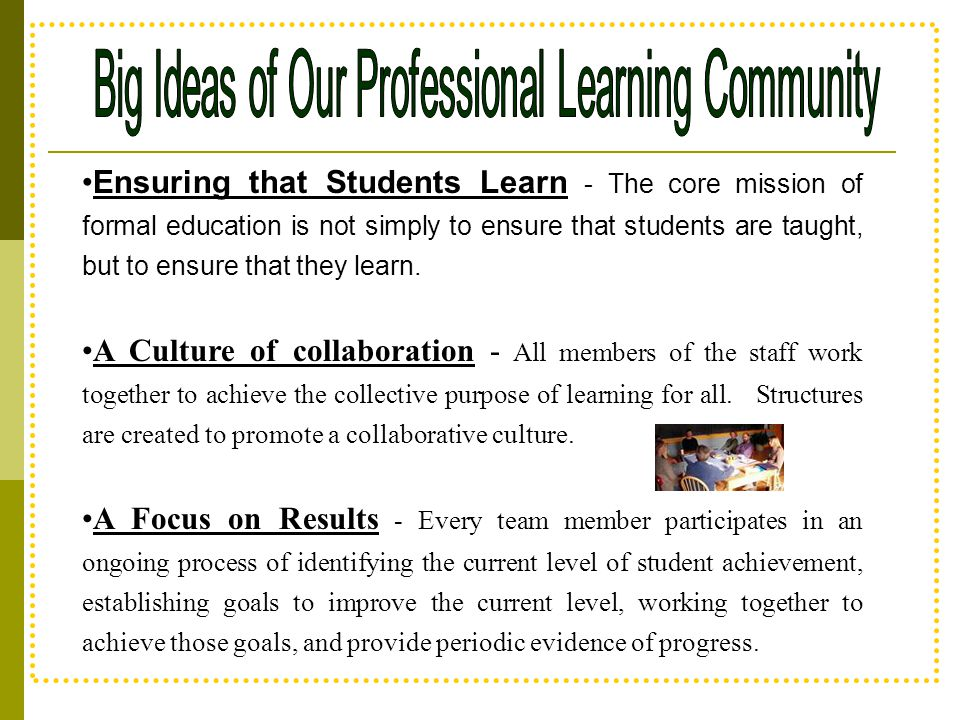 Big Ideas of Our Professional Learning Community