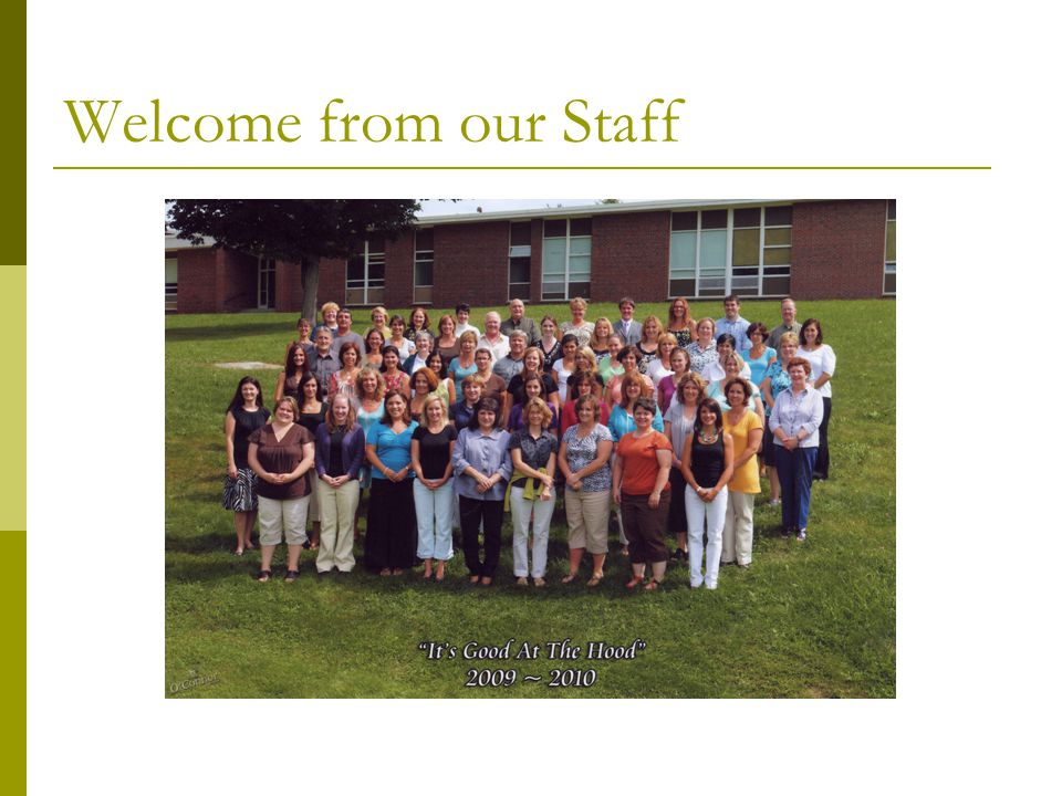 Welcome from our Staff