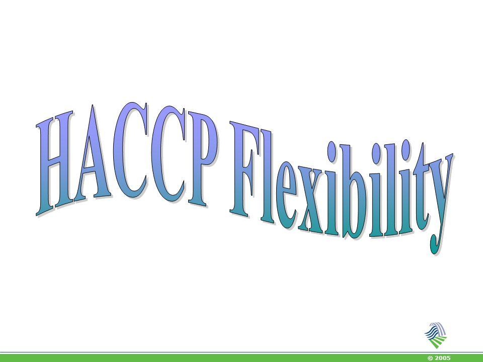 HACCP Flexibility