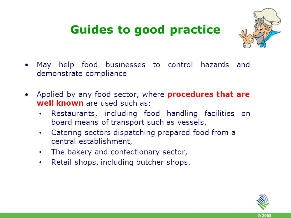 Guides to good practice