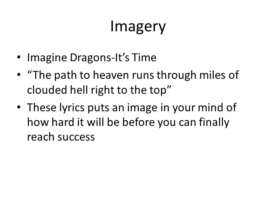 Imagery Imagine Dragons-It's Time