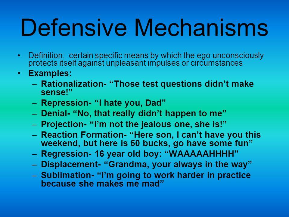 Defensive Mechanisms Examples: