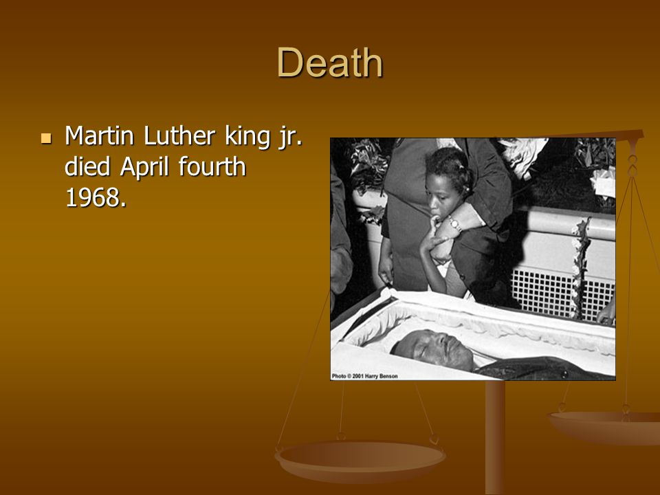 the life and death of martin luther king jr The lift and death of martin luther king, jr on april 4, 1968, a shot rang out in memphis, tennessee, killing the reverend dr martin luther king, jr the leader of the civil rights movement was dead, felled by an assassin's bullet.