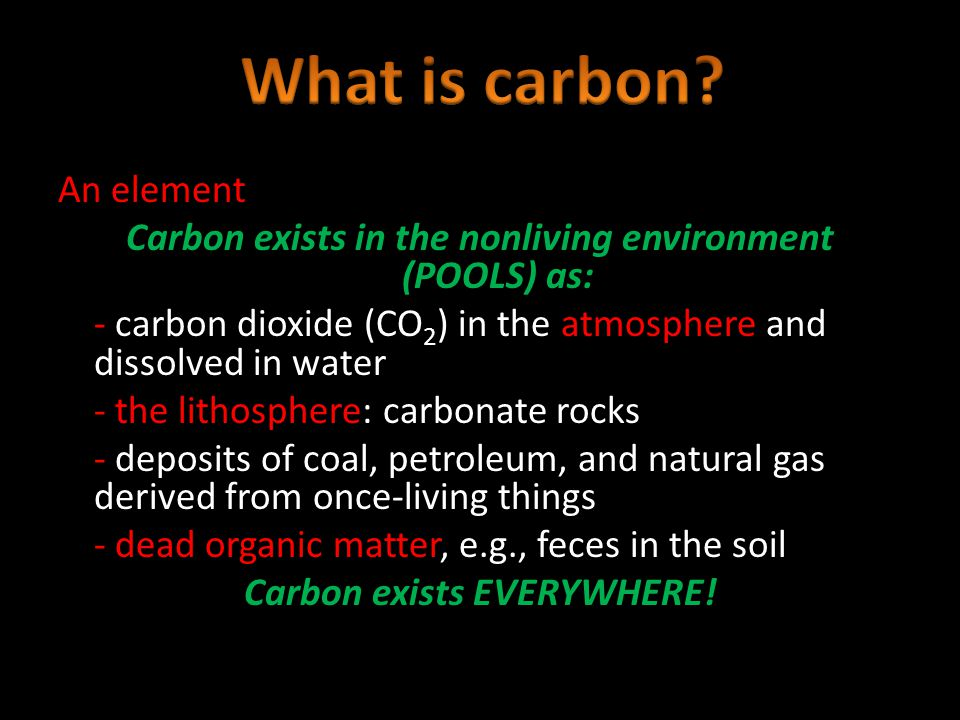 What is carbon An element