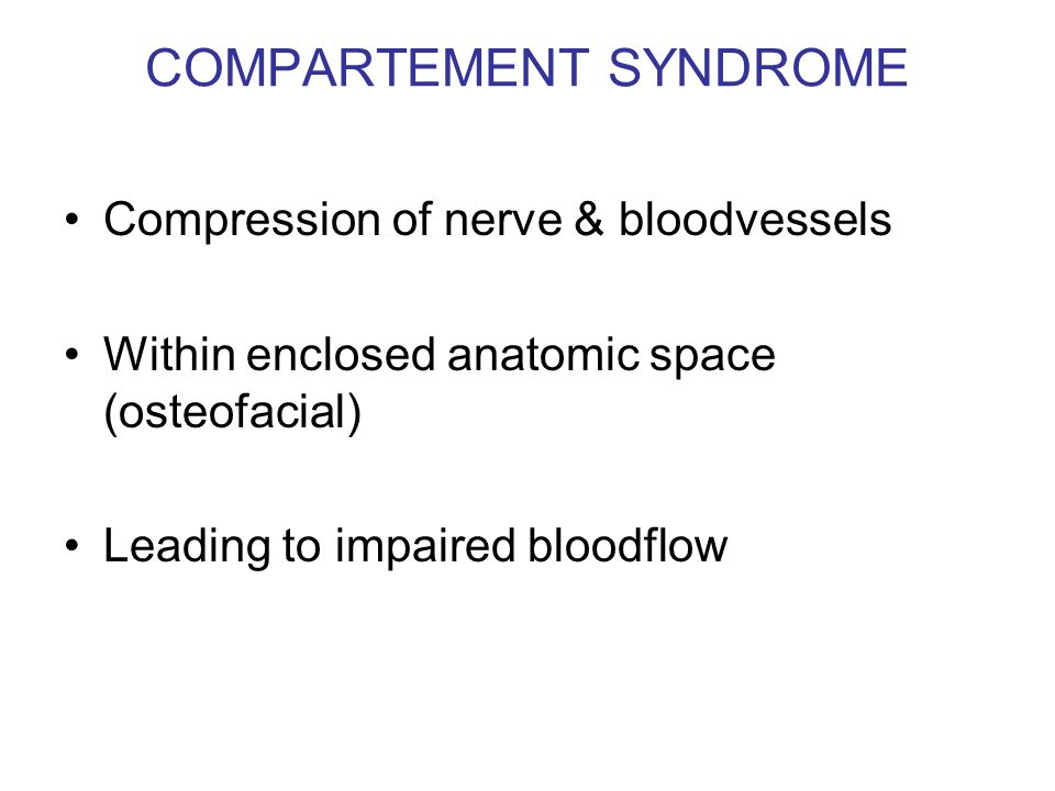 COMPARTEMENT SYNDROME