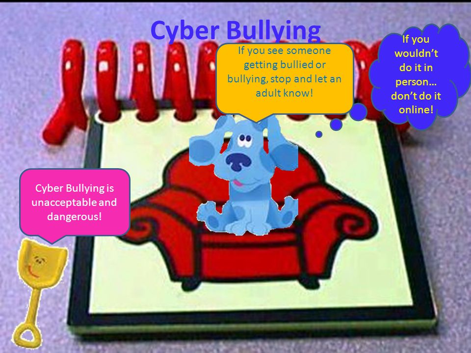 Cyber Bullying If you wouldn't do it in person… don't do it online!