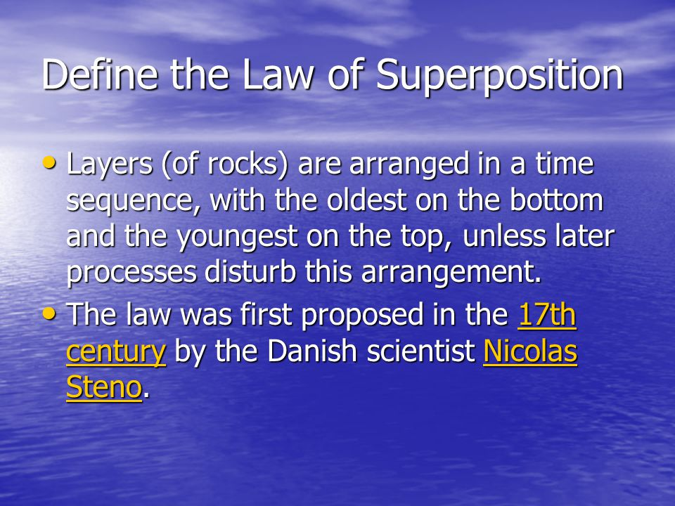 Define the Law of Superposition