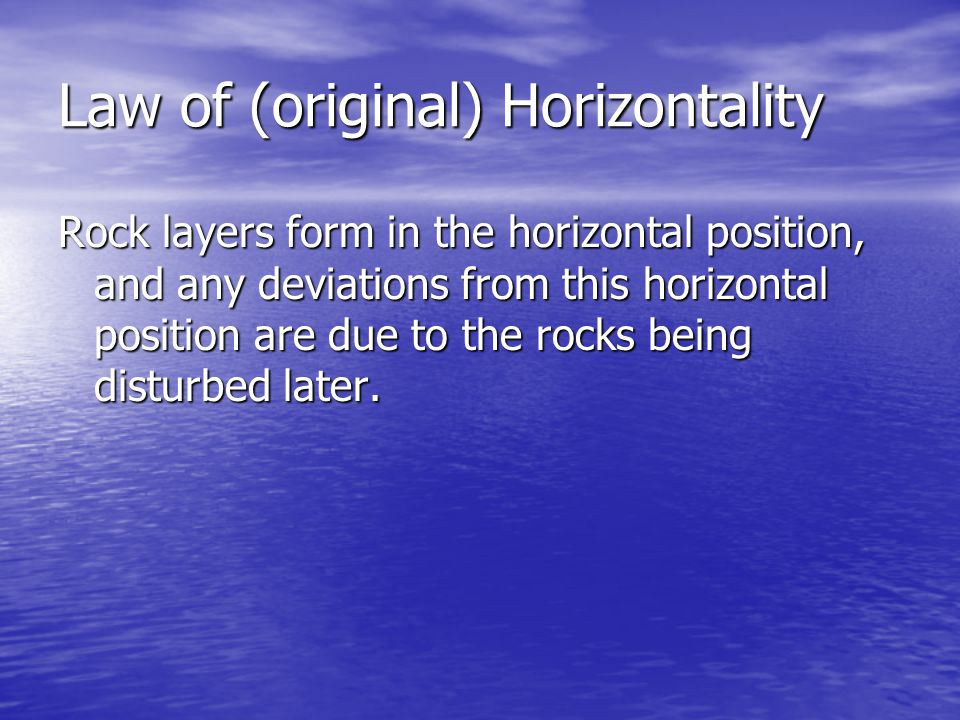 Law of (original) Horizontality