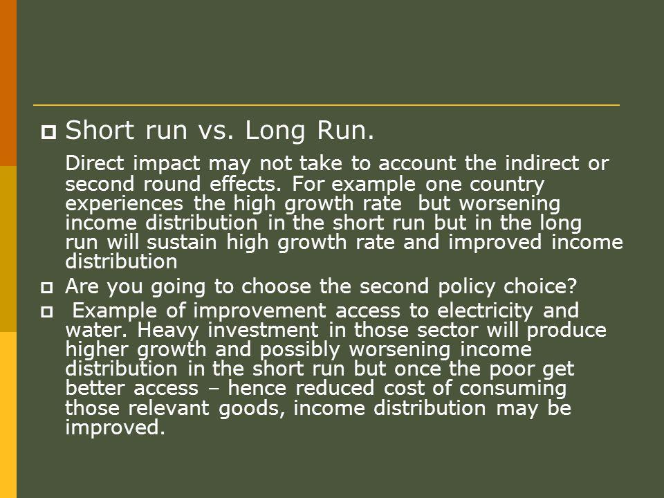 Short run vs. Long Run.