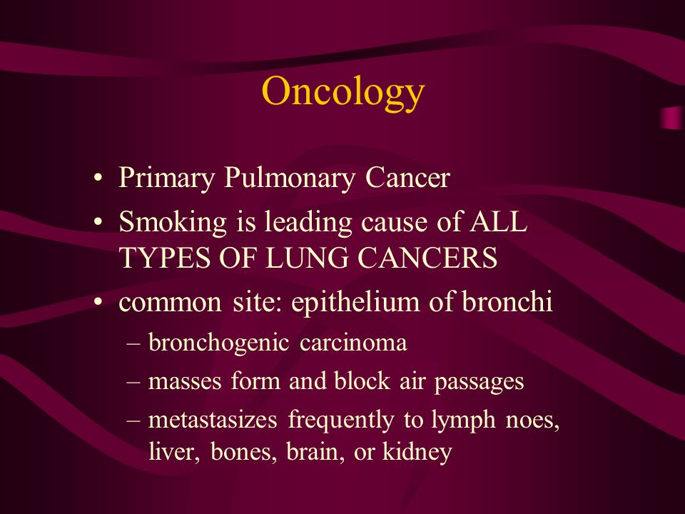 Oncology Primary Pulmonary Cancer