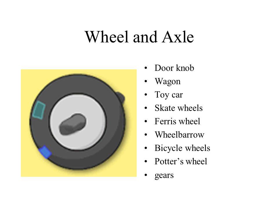 Wheel and Axle Door knob Wagon Toy car Skate wheels Ferris wheel
