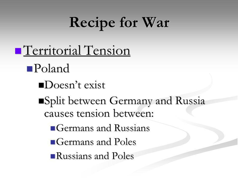 Recipe for War Territorial Tension Poland Doesn't exist