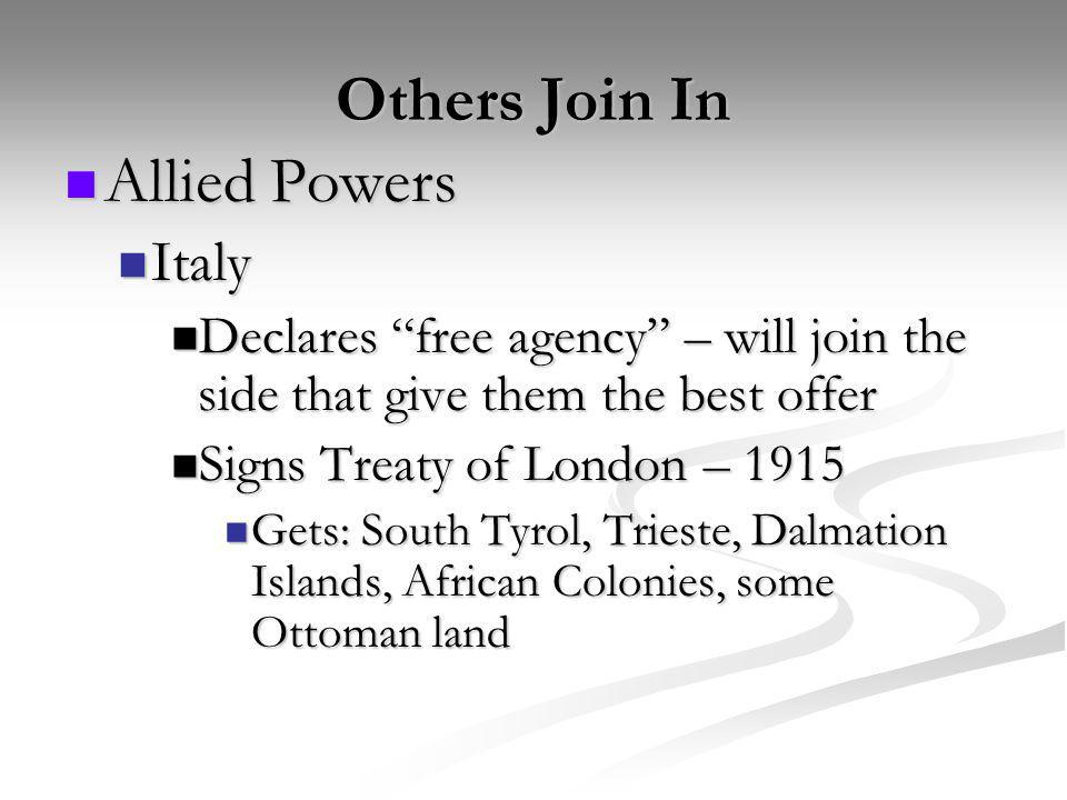 Others Join In Allied Powers Italy