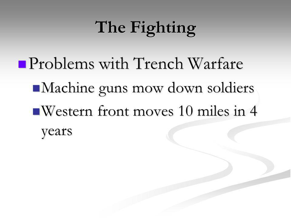 Problems with Trench Warfare