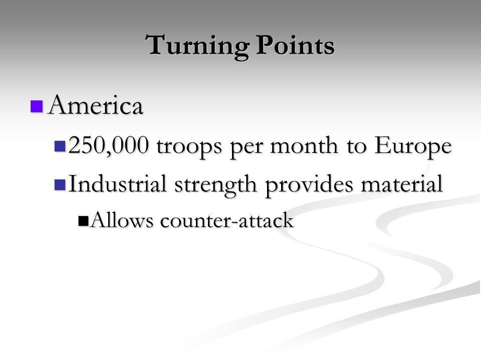 Turning Points America 250,000 troops per month to Europe