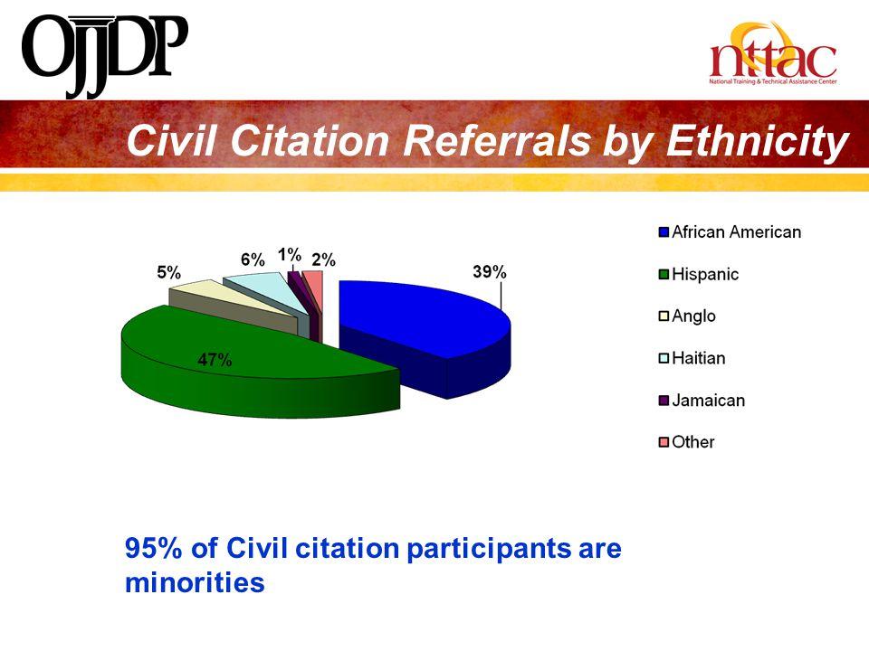 Civil Citation Referrals by Ethnicity