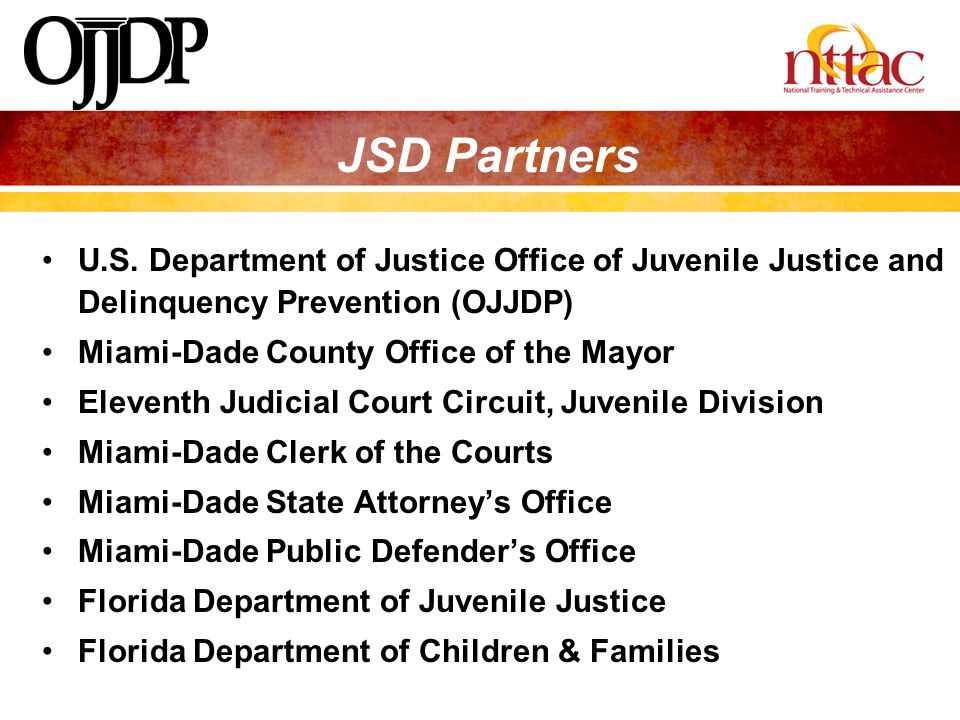 JSD Partners U.S. Department of Justice Office of Juvenile Justice and Delinquency Prevention (OJJDP)
