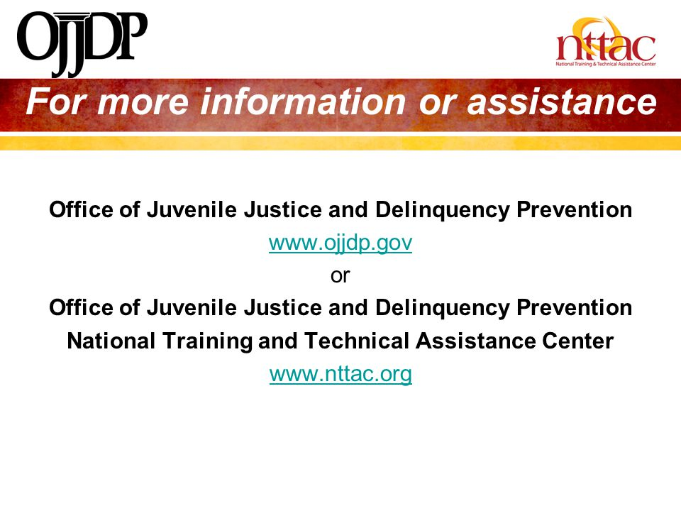For more information or assistance