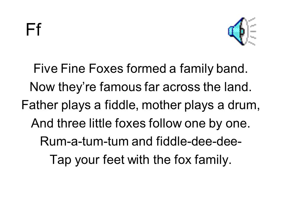 Ff Five Fine Foxes formed a family band.