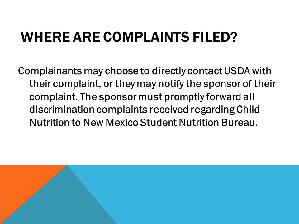 Where are complaints filed