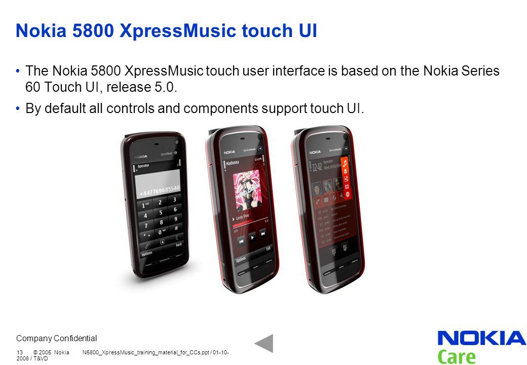 Nokia 5800 XpressMusic touch UI