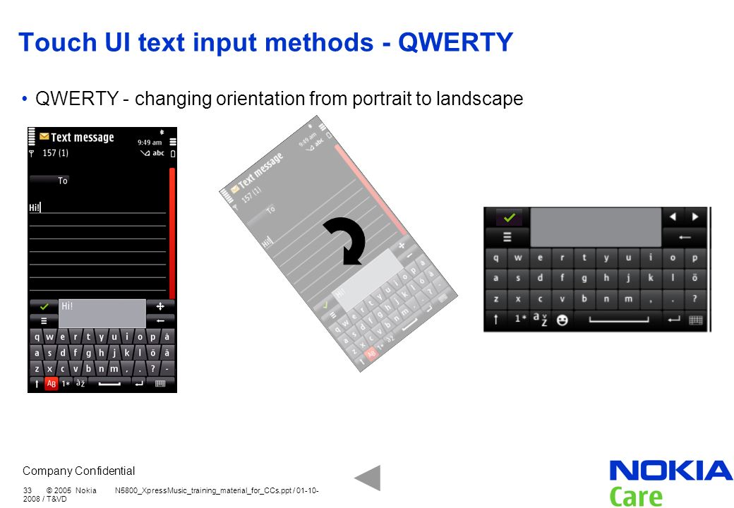 Touch UI text input methods - QWERTY
