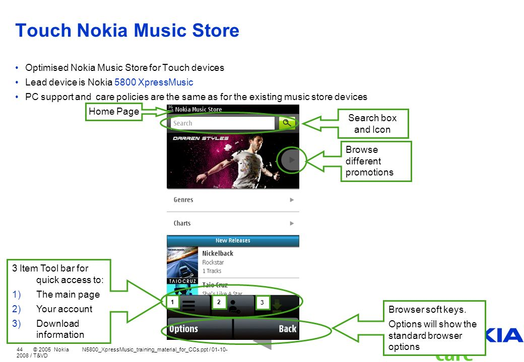 Touch Nokia Music Store